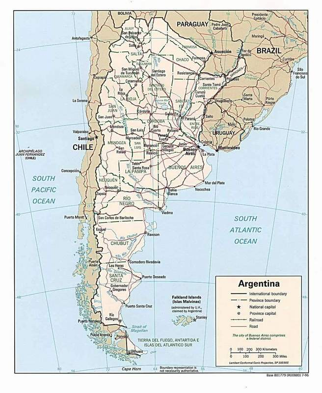 Argentina Map - Argentina highway map
